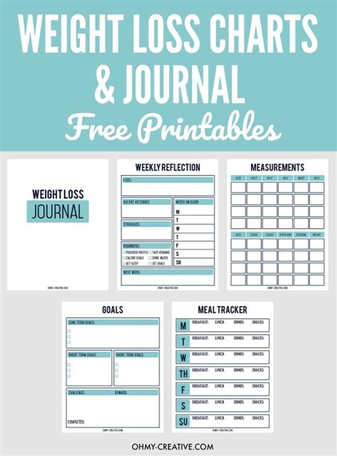 chart images of printable measurement chart weight loss tracker