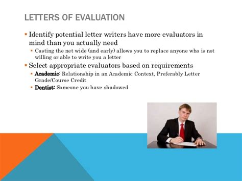 Sle Letter Of Evaluation Dental School preparing for the request always