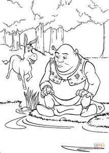 shrek coloring pages games donkey and shrek coloring page free printable coloring pages