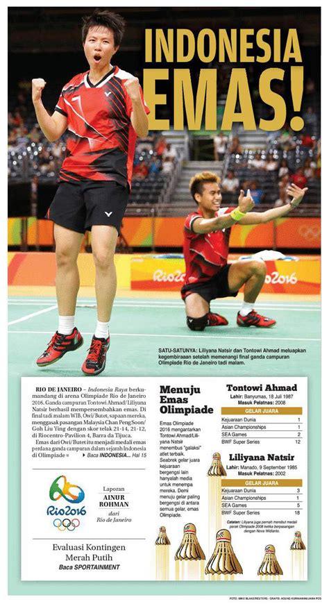 untuk indonesia emas untuk indonesia dari owi dan butet di olimpiade