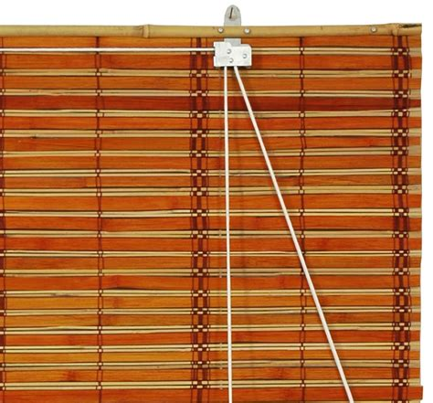 Bamboo Roll Up Blinds Burnt Bamboo Roll Up Blinds 2 Tone Honey 48 Quot Width Ebay