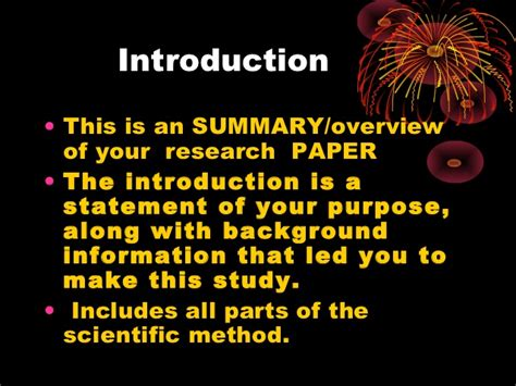 parts of a science research paper parts of a scientific research paper