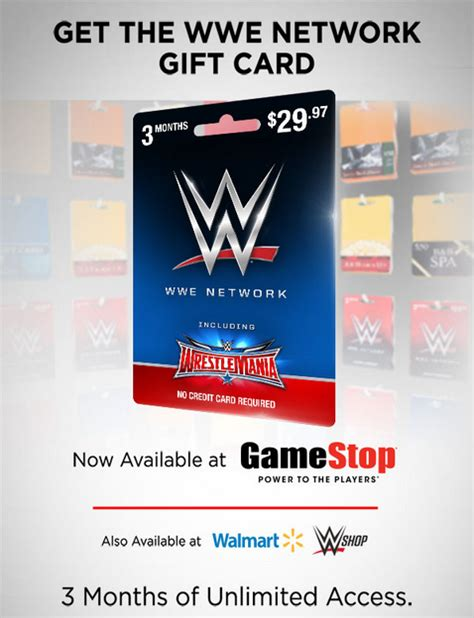 Wwe Network Gift Card Online - best wwe network gift card walmart noahsgiftcard