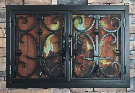 Iron Fireplace Doors by Forged Iron Fireplace Doors Fd021 From Mantel Depot