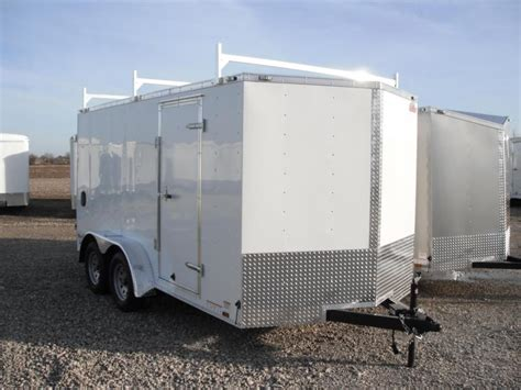 Ladder Rack For Enclosed Trailer by Enclosed Trailers Dump Utility Cargo And Flatbed