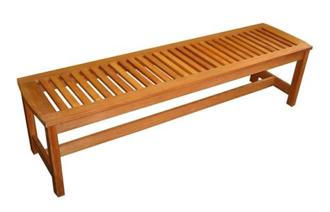 patio furniture bench eucalyptus serenity backless garden bench wood outdoor furniture lwo 880 1079