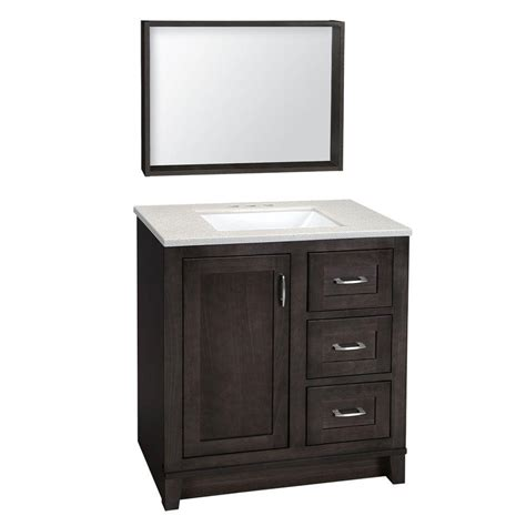 glacier bay kinghurst 30 1 2 in w vanity in gray with