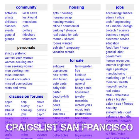 craigslist sf housing craigslist san francisco craigslist sf craigslist com