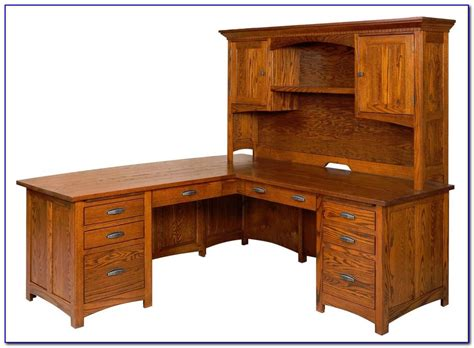 wood desks with hutch solid wood corner computer desk with hutch desk home
