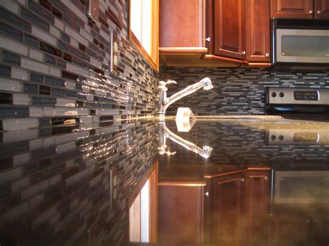 glass back splash kitchen backsplash modern home exteriors