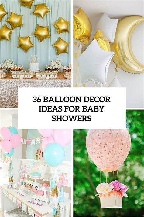Baby Boy Balloons For Baby Shower by 36 Balloon D 233 Cor Ideas For Baby Showers Digsdigs