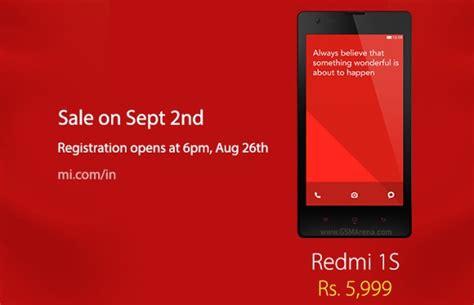 Xiaomi Redmi 1 1s Bateraibatre Xiaomi Original 99 Ori 99 Kw xiaomi redmi 1s on sale in india on september 2 gsmarena news
