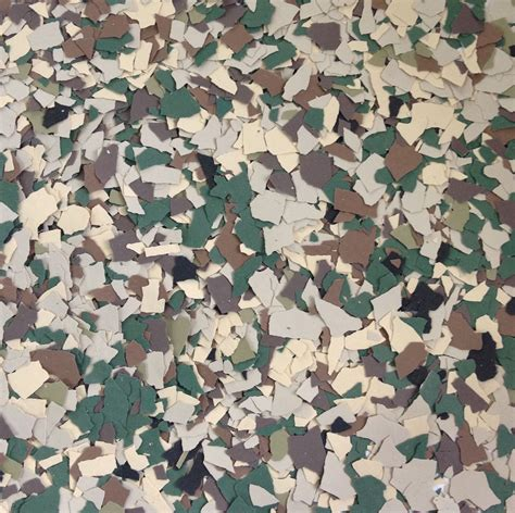 Camo Flooring by Floor Chip Flakes Available Decorative Color Chip Flake