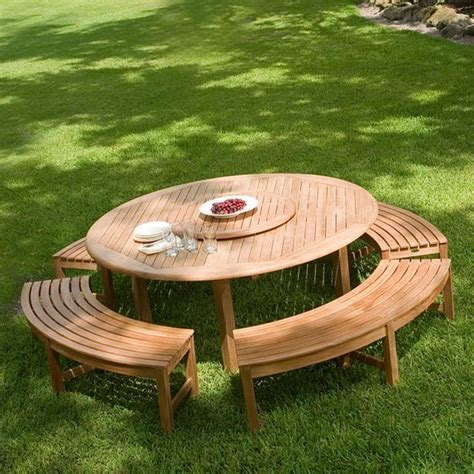 teak picnic table with benches round teak picnic table picnics the shade and summer days