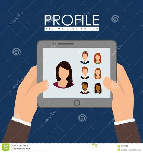 profile graphic stock vector image 63369520