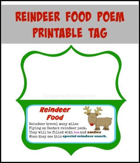 free printable reindeer dust poem reindeer food poem printable use on your own reindeer food