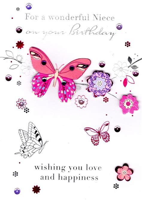 Birthday Card For Niece Greeting Wonderful Niece Handmade Birthday Greeting Card Cards