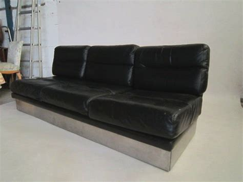 vintage sofas and chairs vintage leather sofa and pair of chairs by jacques