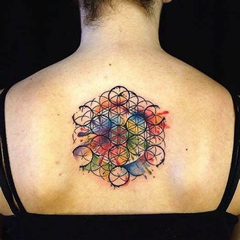 tattoo flower of life spiritual tattoos inked magazine geometric tattoos