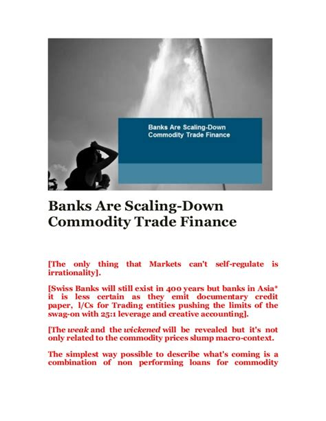 bank commodity trading banks are scaling commodity trade finance