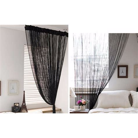 black beaded door curtains new christmas wholesale 3m x 3m black tassel drape panel