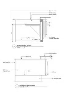 Reception Desk Detail Plans To Build Reception Desk Construction Details Pdf Freeplans