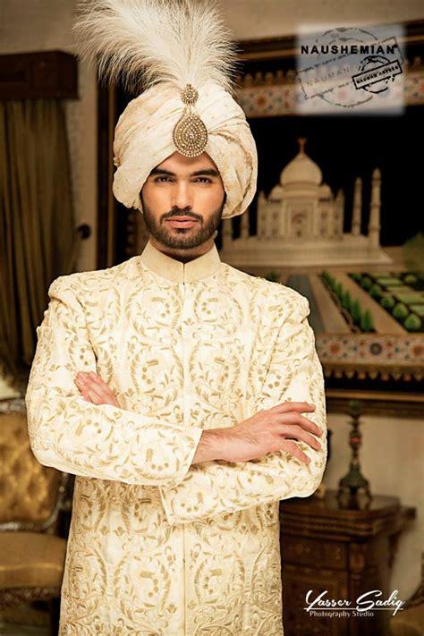 Nauman Afreen Groom Wedding Sherwani Designs Latest ... Indian Designer Bridal Dresses 2017