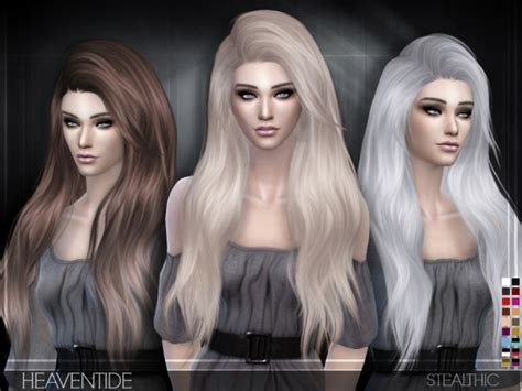 sims 4 hair the sims resource the sims resource heaventide hair by stealthic sims 4