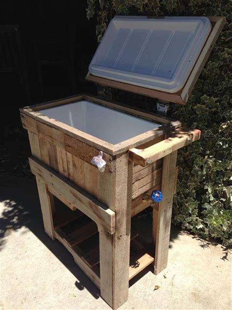 backyard cooler diy rustic outdoor pallet cooler pallet furniture diy
