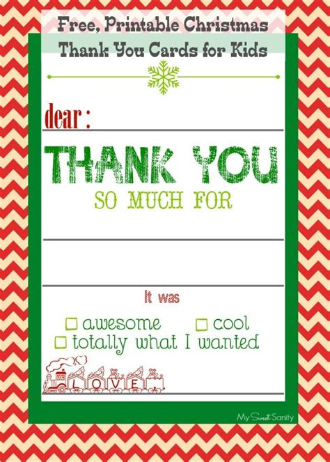 printable christmas cards parents free printable christmas thank you cards for kids free