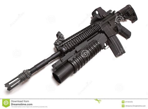 Us Navy Seals M4 Carbine Series 6 Cutting Sticker us army m4a1 tactical carbine with m203 louncher stock photo image 21731278