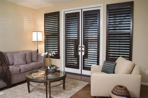 Wood Blinds Vs Shutters plantation shutters premium wood normandy stains