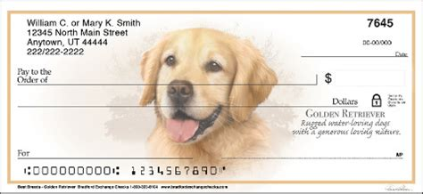 golden retriever personal checks best breeds golden retriever personal checks