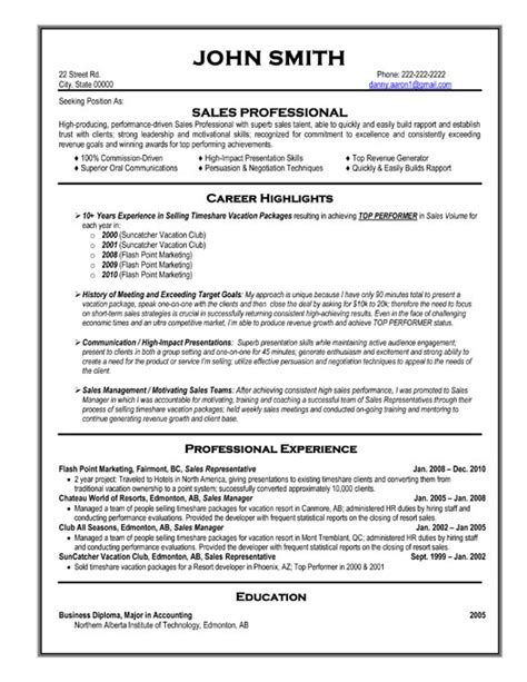 Sles Of Professional Resumes by Sales Professional Resume Template Premium Resume Sles Exle