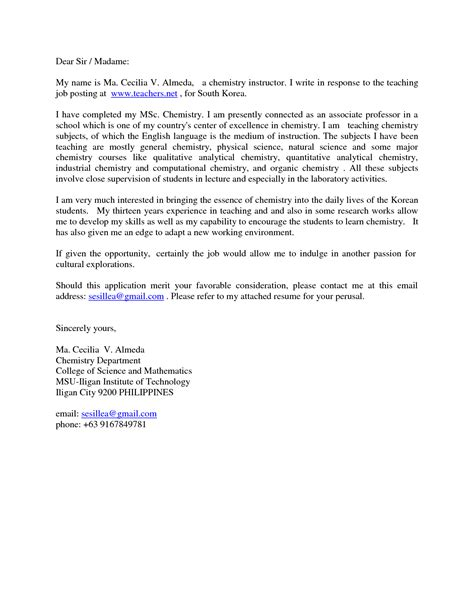 Retail Sales Consultant Cover Letter by Exles Of Cover Letters For Teaching