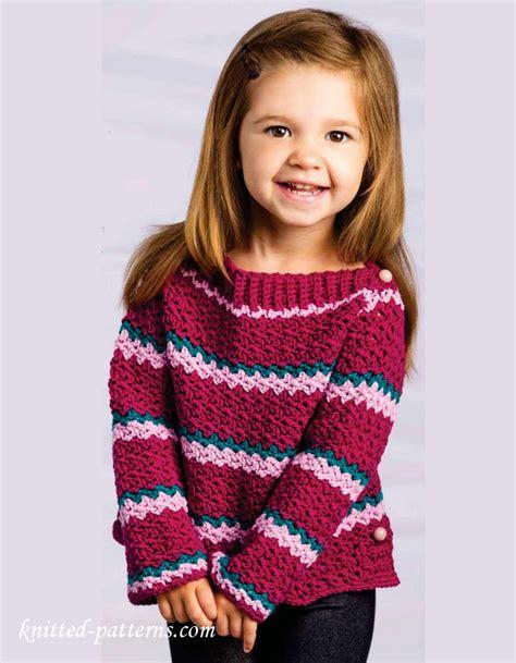 knitting pattern sweater girl little girl crochet sweater pattern free