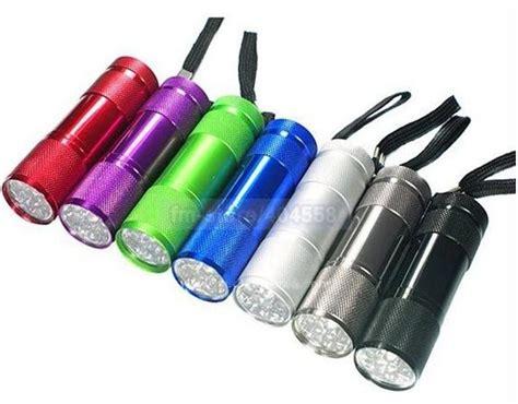 colorful flashlight colorful 9 led aluminum cing flashlight mini