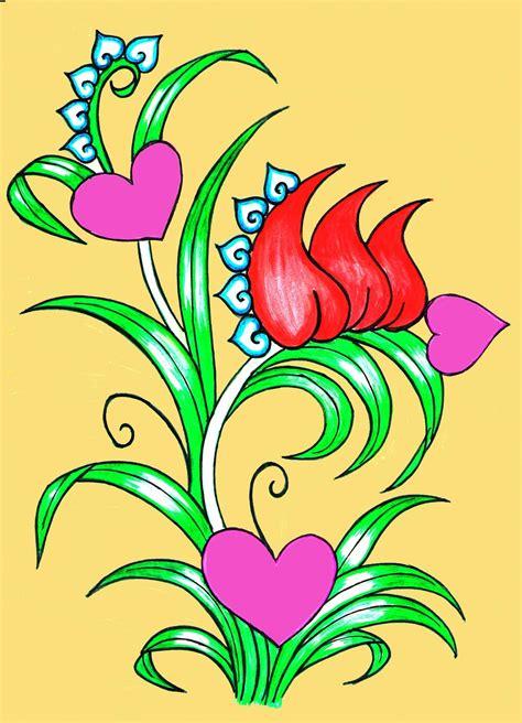 easy painting flower designs simple flower designs for painting www pixshark