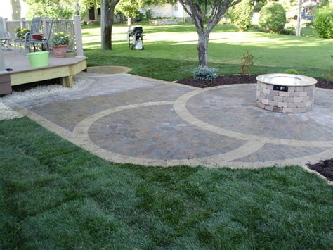 Circular Paver Patio Circular Paver Patio Patio Minneapolis By Barrett Lawn Care