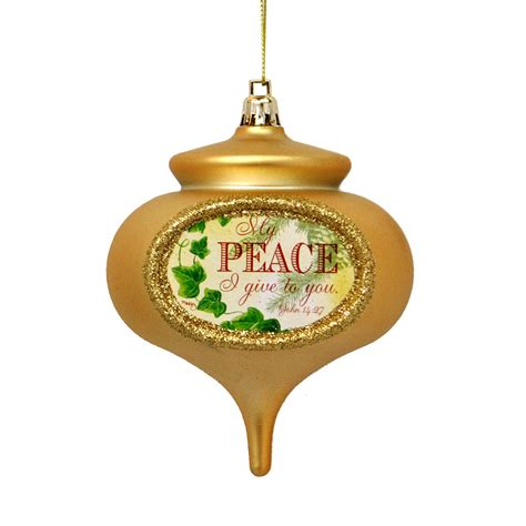 christmas carol peace ornament