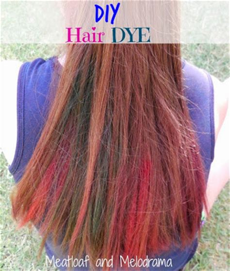coloring hair with kool aid how to dye your hair with kool aid meatloaf and melodrama