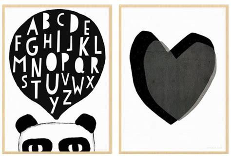 poster chambre enfant des affiches enfant en noir et blanc joli place