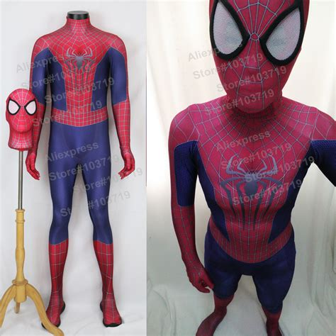 spiderman pattern suit hero catcher high quality 3d pattern amazing spiderman