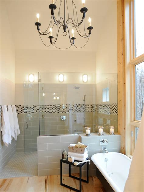 Bathroom Shower Light Relaxed Sophistication The 2011 Home Master Bathroom Features A Spa Worthy Shower Complete