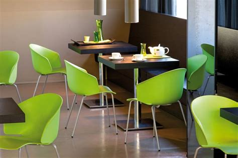 Lime Green Bistro Table And Chairs Lime Green Pedrali Grace Chairs Shine In A Restaurant Glossy Modern Furniture