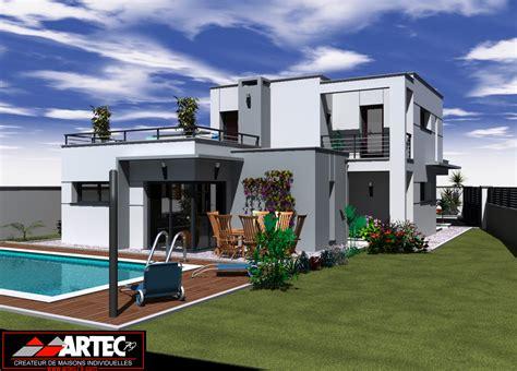 Villa Plan by Perspectives De Maisons Constructeur Deux S 232 Vres