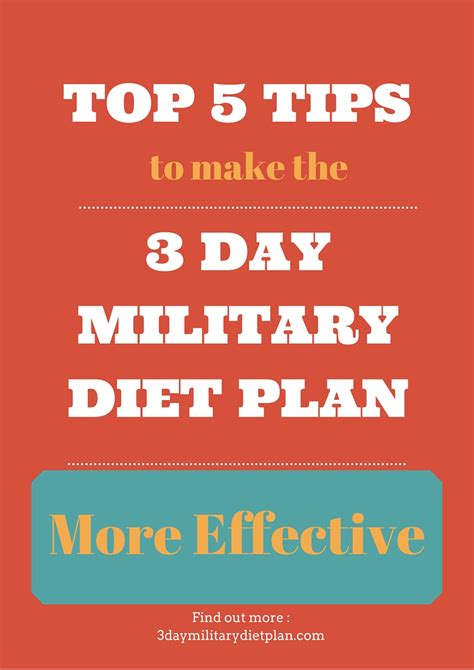 top 5 tips to make the 3 day military diet plan more