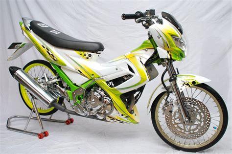 Lu Buat Satria Fu satria fu 2010 semarang semi drag modis abis otomotif medan dan nasional