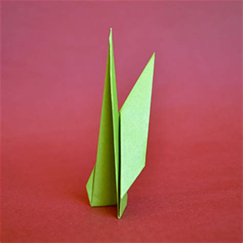 Origami Flower With Stem - origami flower stem