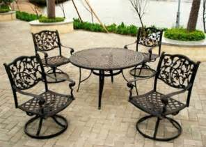 wrought iron patio table and 4 chairs hbwonong